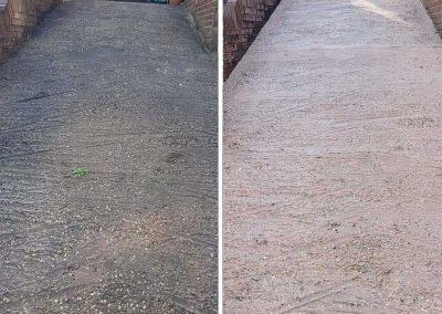pressure-wash-driveway-clean